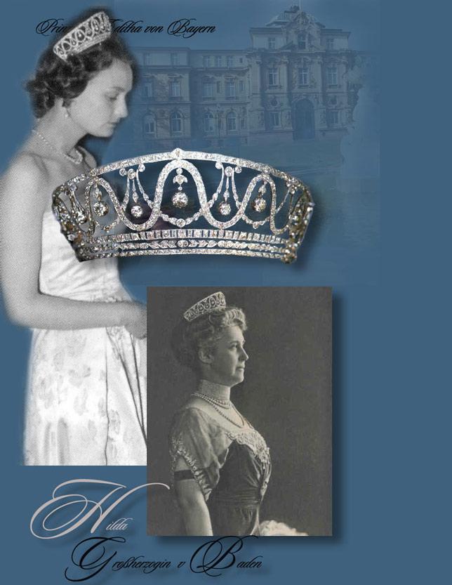 Grand Duchess Hilda - Brilliant Tiara|Germany Royal Jewel Brilliant Tiara of the Bavarian Royal Treasury and the House of Baden. tiara diadem diadem