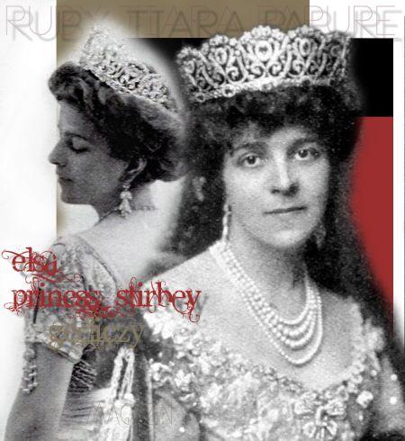 Princess Elisabeth Stirby Bibesco Baroness Gerliczy |Parure with large Ruby and Diamond Tiara Ruby Diamond Ruby and Diamond Diademe| Royal WeddingHungary Royal Imperial Jewel History Magnate