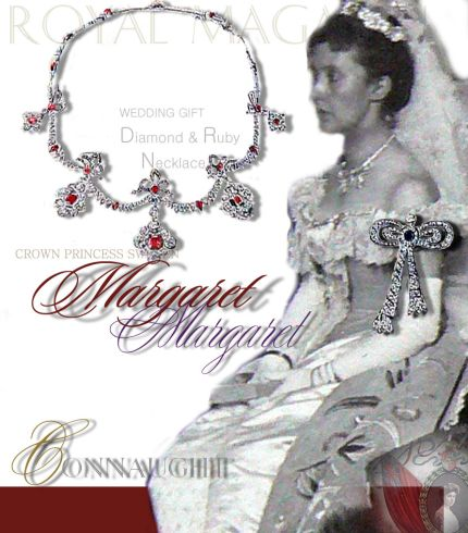 Ruby Diamond Bow Ribbon Lovers knots Necklace |Crown Princess Margaret of Sweden Wedding Jewels|Royal Marriage Presents