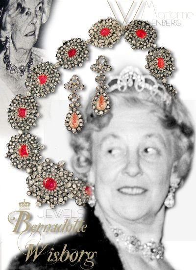 Princess Bernadotte Jewels |Diamond Necklace Pink Sapphire| Marianne Countess of Wisborg Royal Jewelry Sweden
