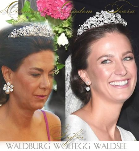 Fürstin von Waldburg zu Wolfegg & Waldsee |Pearl Berries and Diamond Flowers with Leaves Tiara| Royal Wedding Princess of Waldburg Wolfegg Waldsee |Countess Vittoria Bridal Diadem royalty german royals royalwedding royalweddingtiara royal jewel history