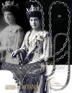 Queen Victoria's Diamond Coronation Jubilee present : Link chain with diamonds