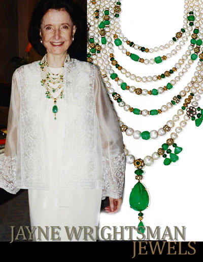Jayne Wrightsman Jewelry | Famous Important Jewels History Orient pearls Emeralds
