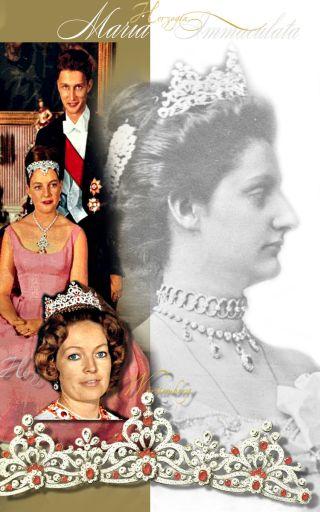Imperialer Rubinschmuck Herzogin Maria Immaculata von Württemberg | Erzherzogin von Österreich | Imperial Austria Jewels